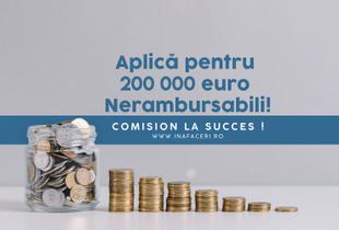 Măsura 3 - granturi pentru investiții de până la 200.000 Euro